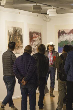 2019年3月25日首席摄影拍摄了岩画大师倪培坚先生的画展